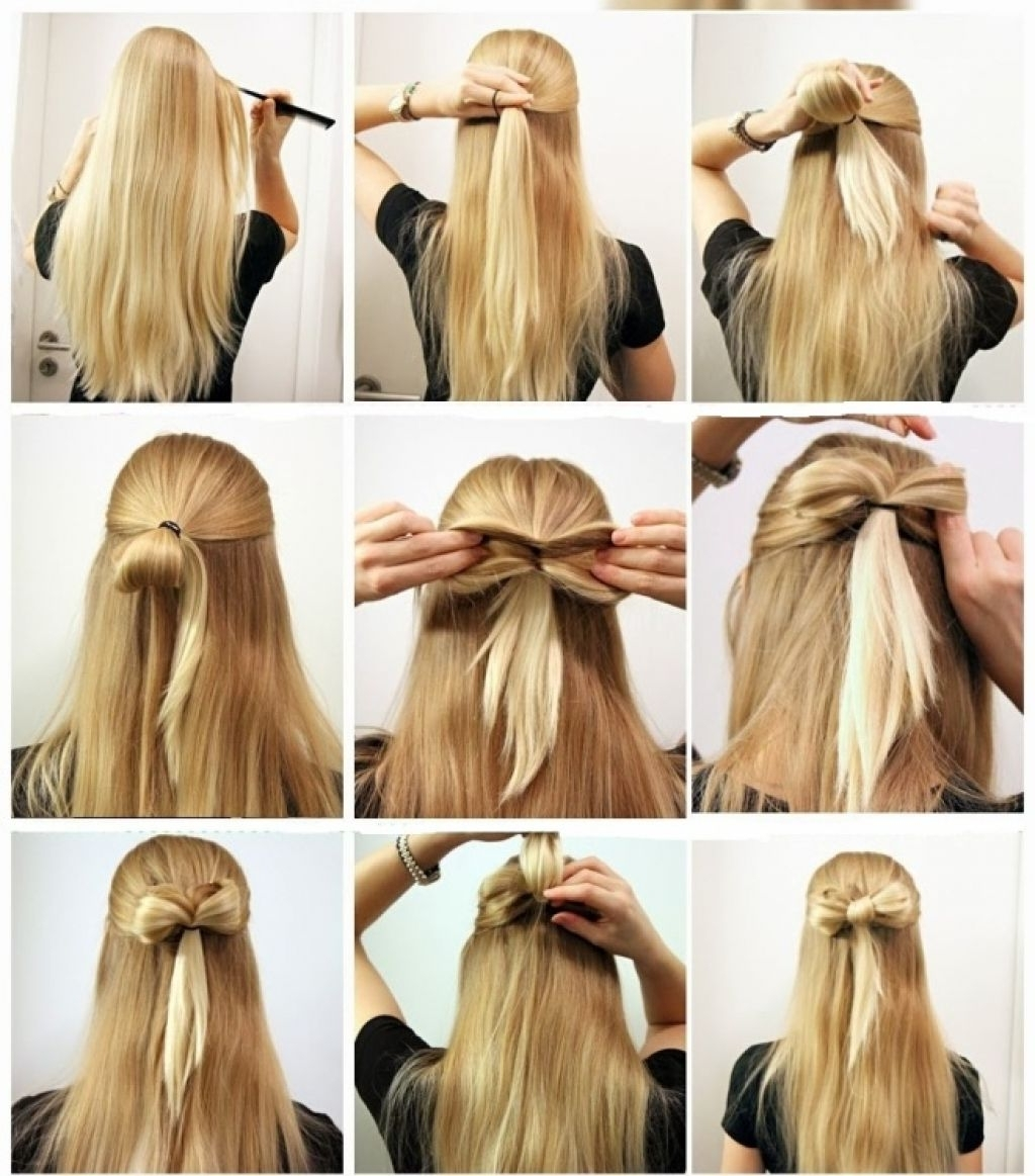 Fresh Easy Hairstyles For Medium Length Hair 20 Ideas With Easy Throughout Quick Updos For Medium Length Hair (View 14 of 15)