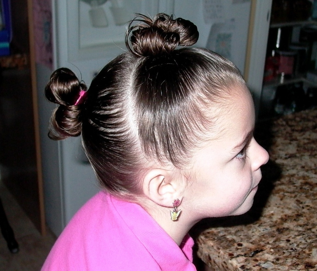 Fun Easy Hairstyle For Short Hair Easy Hairstyles For Little Girls In Updo Hairstyles For Little Girl With Short Hair (View 8 of 15)