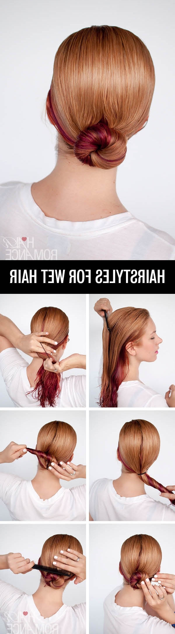 Get Ready Fast With 7 Easy Hairstyle Tutorials For Wet Hair – Hair Intended For Wet Hair Updo Hairstyles (Gallery 9 of 15)