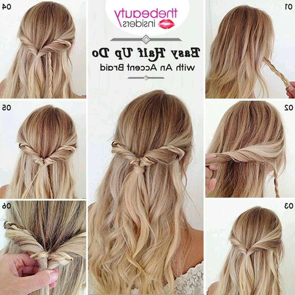 Get This Easy Half Up Do With An Accent Braid #hairstyle For This Within Easy Half Updo Hairstyles (View 11 of 15)