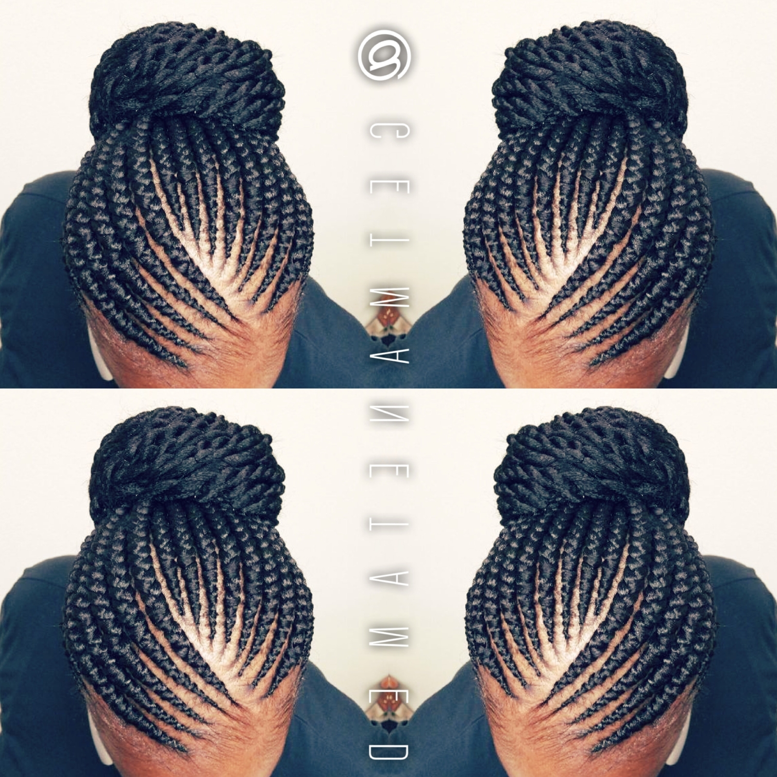 Ghana Braids. Ghana Cornrows. Banana Cornrows. Feed In Cornrows With Regard To Cornrow Updo Bun Hairstyles (Gallery 14 of 15)