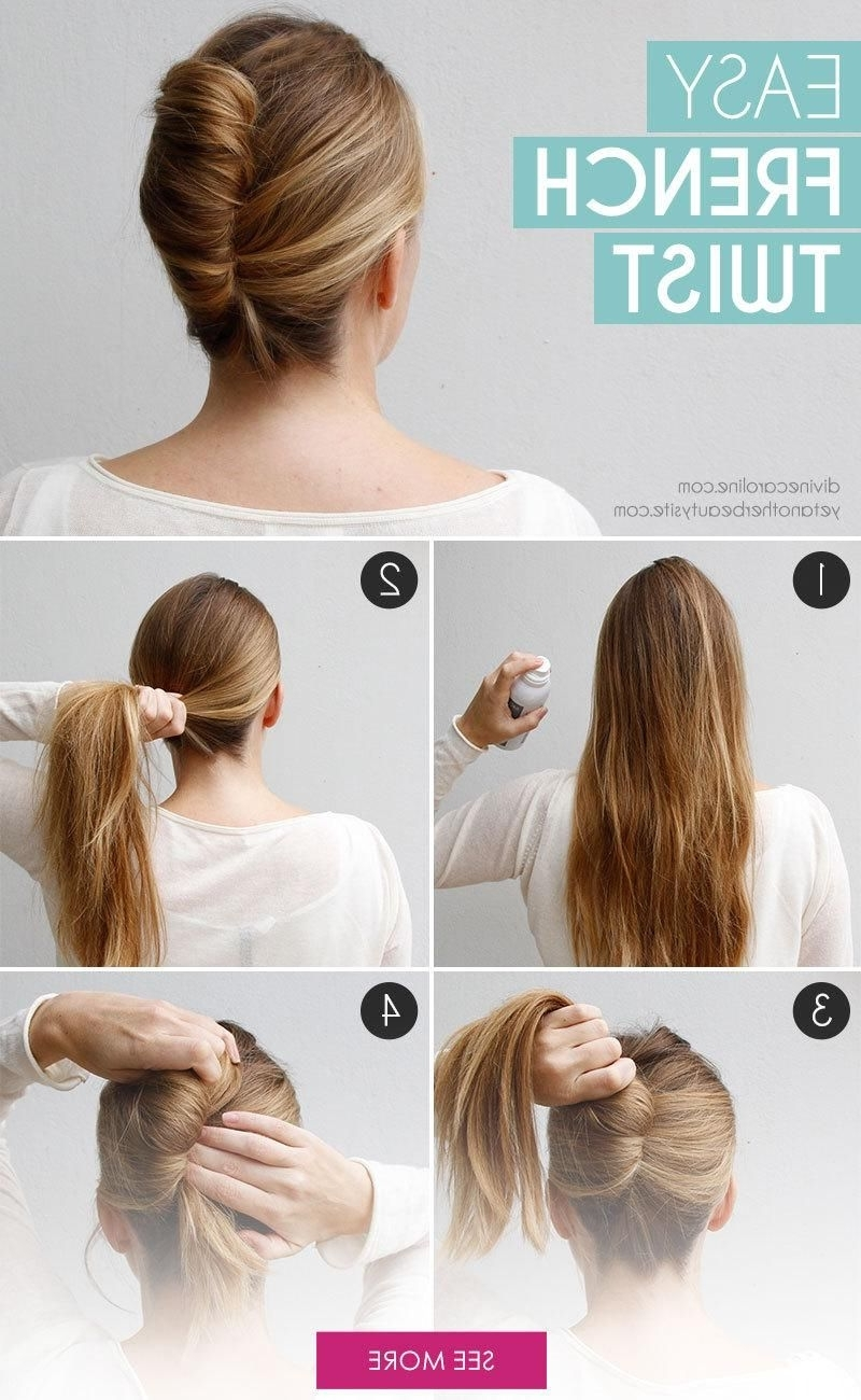 Photo Gallery Of French Twist Updo Hairstyles For Short Hair