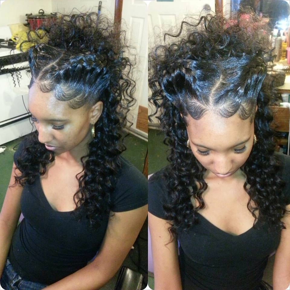 Goddess Braid Updo, Nice Even If U Have A Weave With A Part In The Throughout Updo Hairstyles With Weave (Gallery 8 of 15)