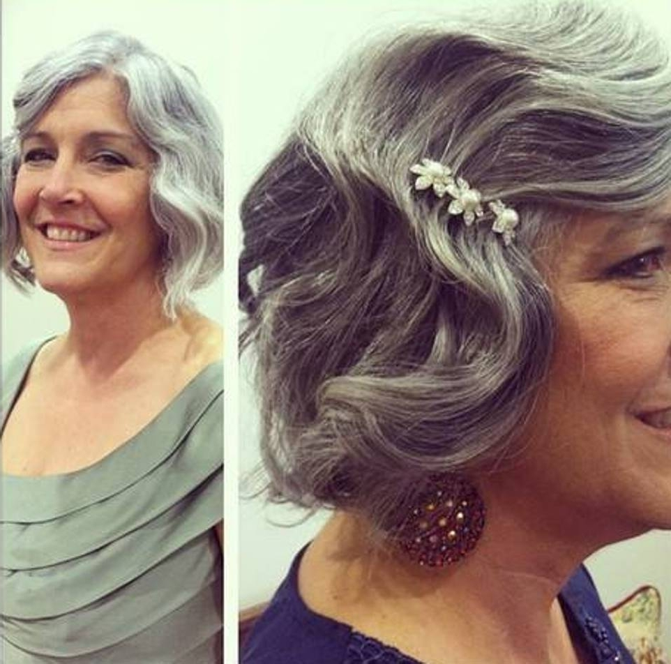Gorgeous Mother Of The Bride Hairstyles Intended For Soft Updos For Short Hair (View 15 of 15)