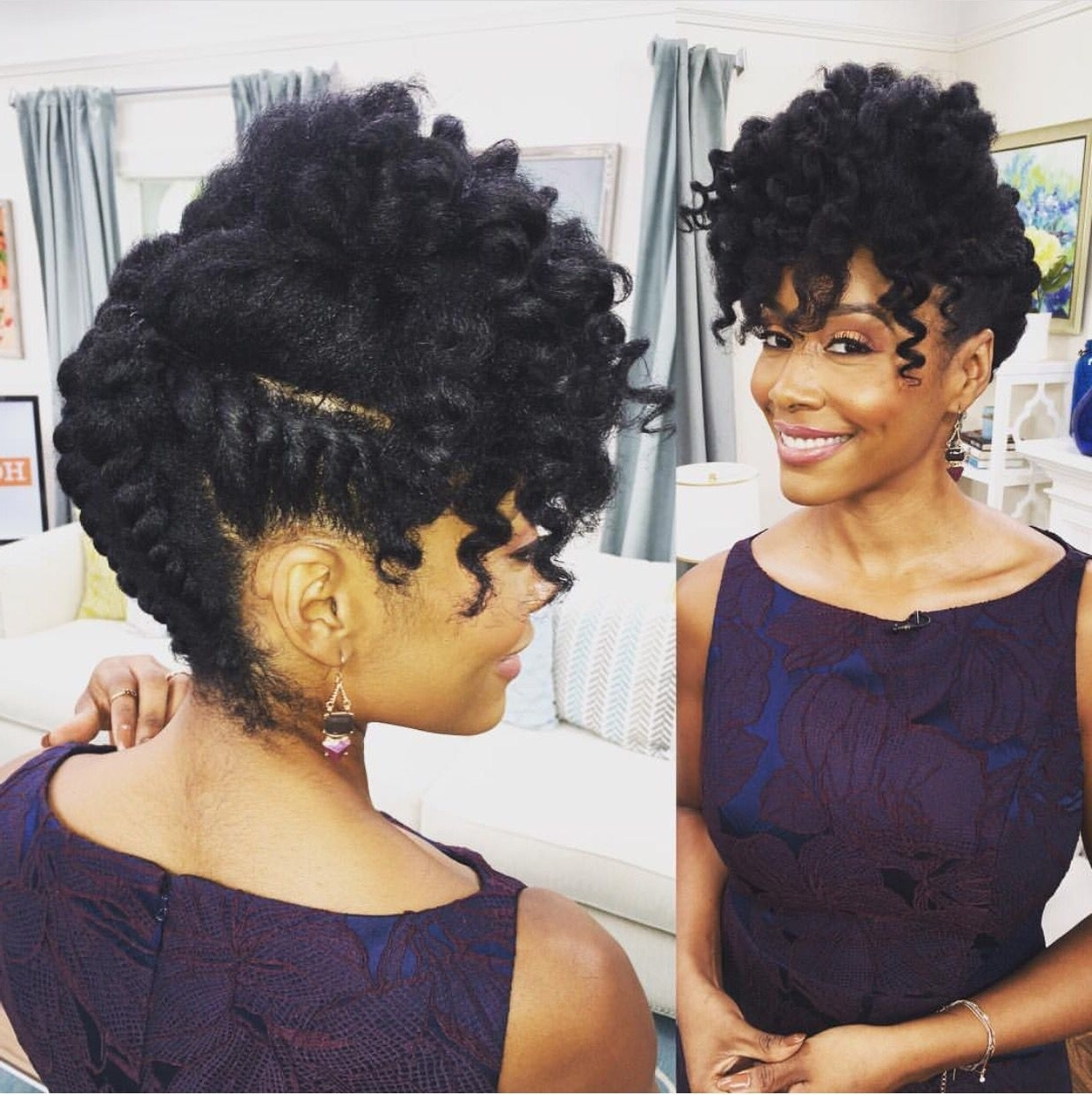 Hair Care Techniques You Should Use To Grow Long Gorgeous Natural Intended For Natural Updo Bun Hairstyles (View 6 of 15)