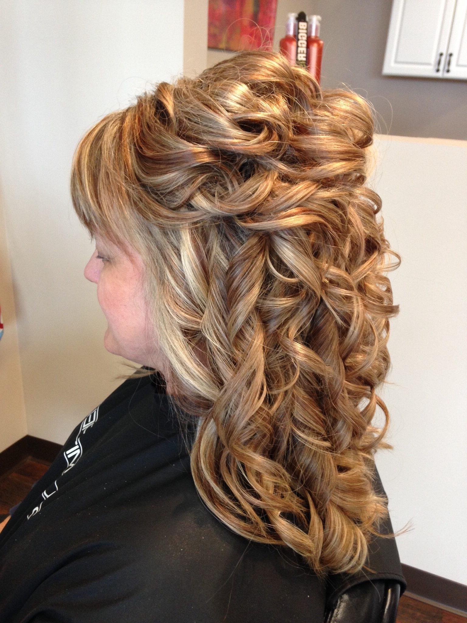 Hair Partial Updo, Formal, Wedding, Prom, Hairstyles, Long Hair For Partial Updo Hairstyles For Long Hair (View 2 of 15)