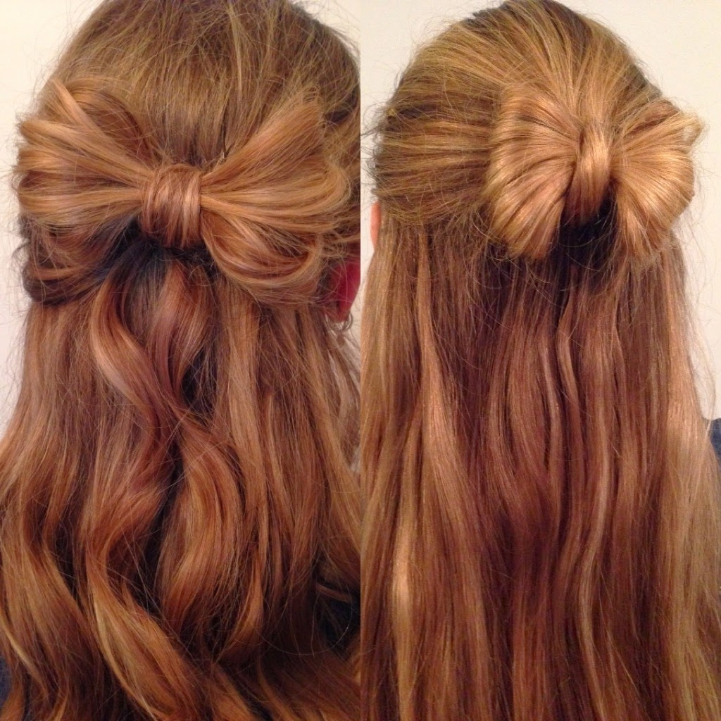 Hair Stylesliberty: Partial Updo Bow Braid #hairstyles #braid Regarding Partial Updo Hairstyles For Long Hair (View 8 of 15)