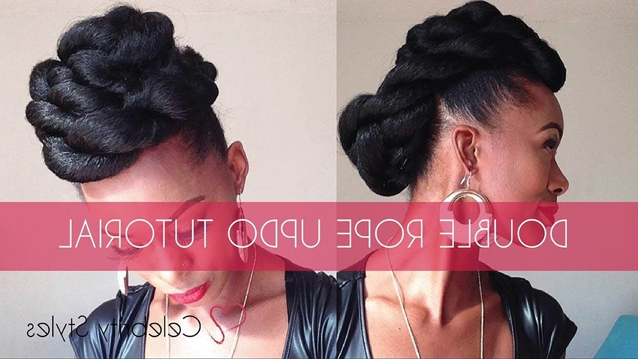 Hair Tutorial: Easy Double Rope Updo With Kankekalon Jumbo Braid With Regard To Twisted Bun Updo Hairstyles (View 8 of 15)