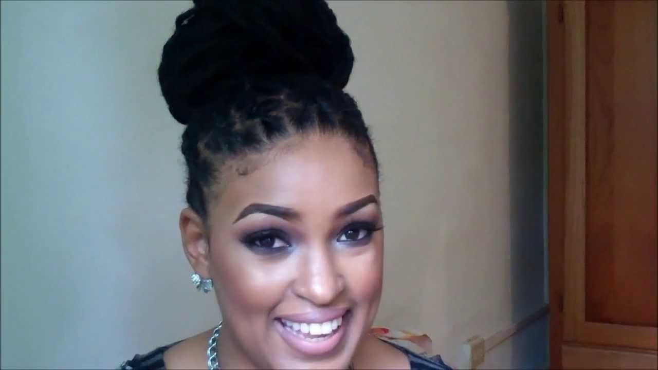 Hair Tutorial| Pin Less Loc Bun – Youtube Throughout Updo Hairstyles For Locks (View 3 of 15)