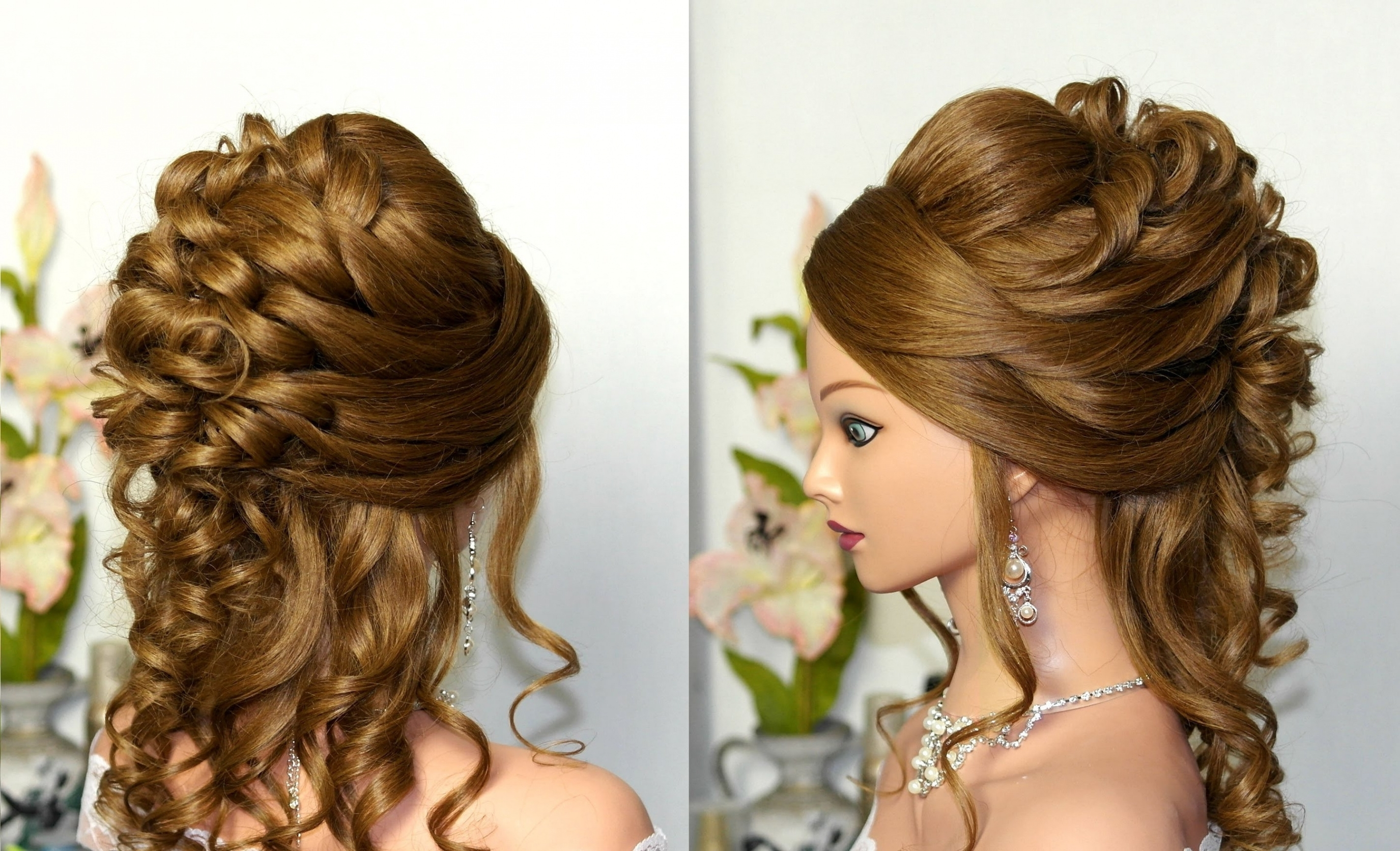 Hair Updo Hairstyles Curly Wedding Prom Hairstyle For Long Hair In Pretty Updo Hairstyles For Long Hair (View 11 of 15)
