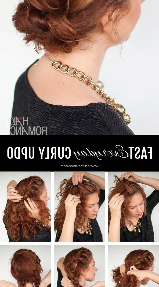 Hairstyle For Long Curly Shocking Hair Updos Hairstyles Thick Half For Easy Updos For Long Curly Hair (View 12 of 15)