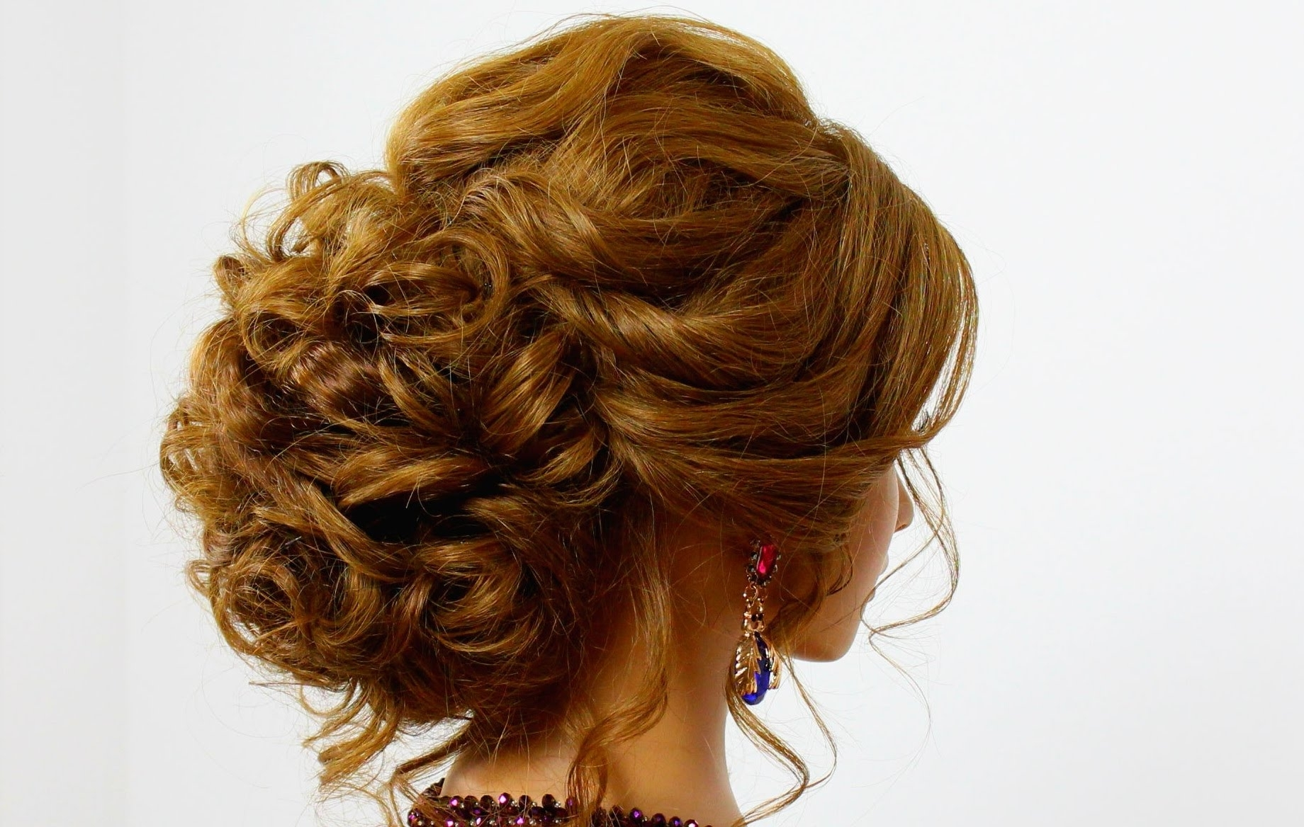 Photo Gallery Of Updo Hairstyles For Long Thick Hair Viewing 6 Of