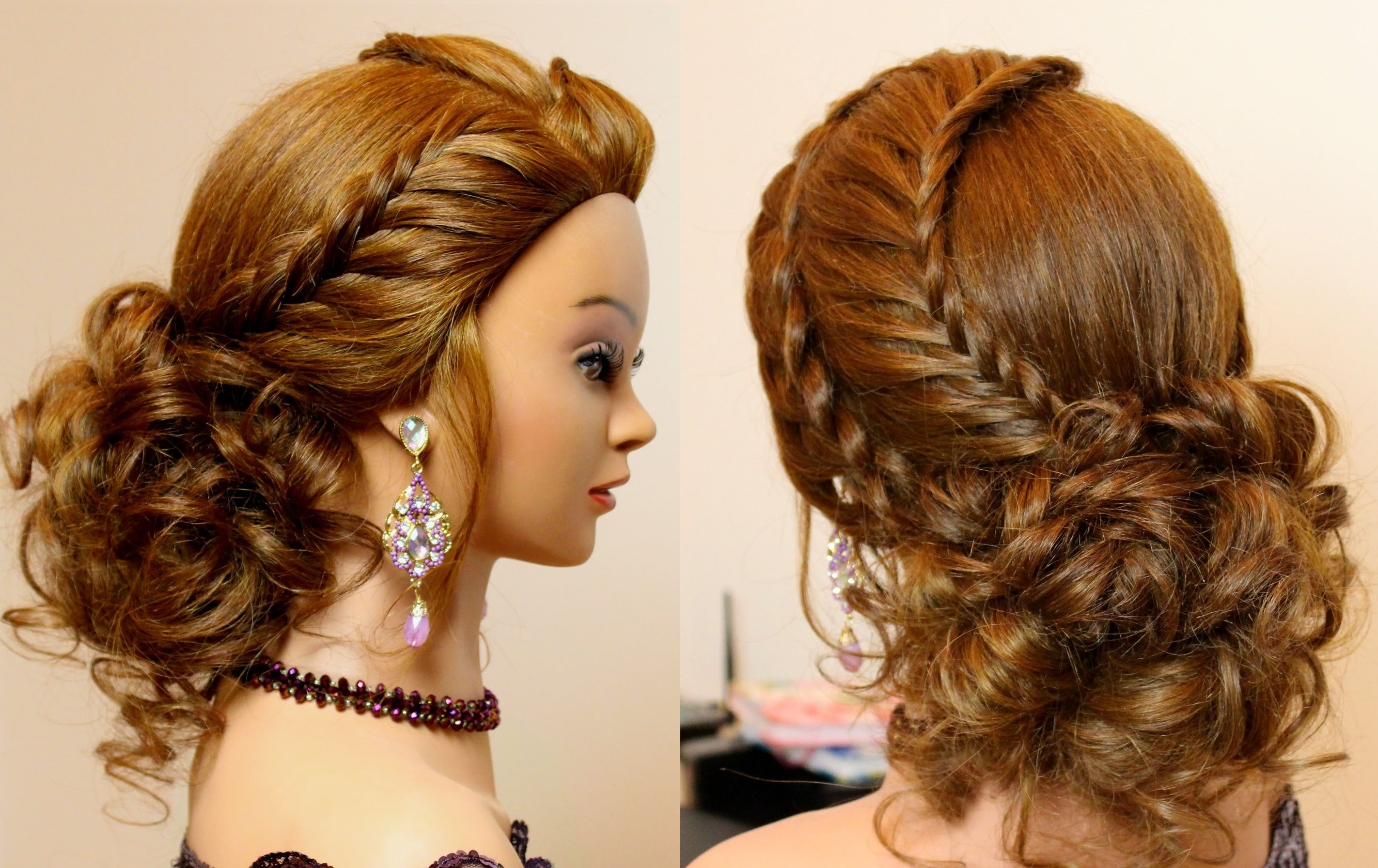 Hairstyle For Long Hair Tutorial Cute Prom Updo With Braids Youtube Throughout Fancy Updo Hairstyles For Long Hair (View 6 of 15)