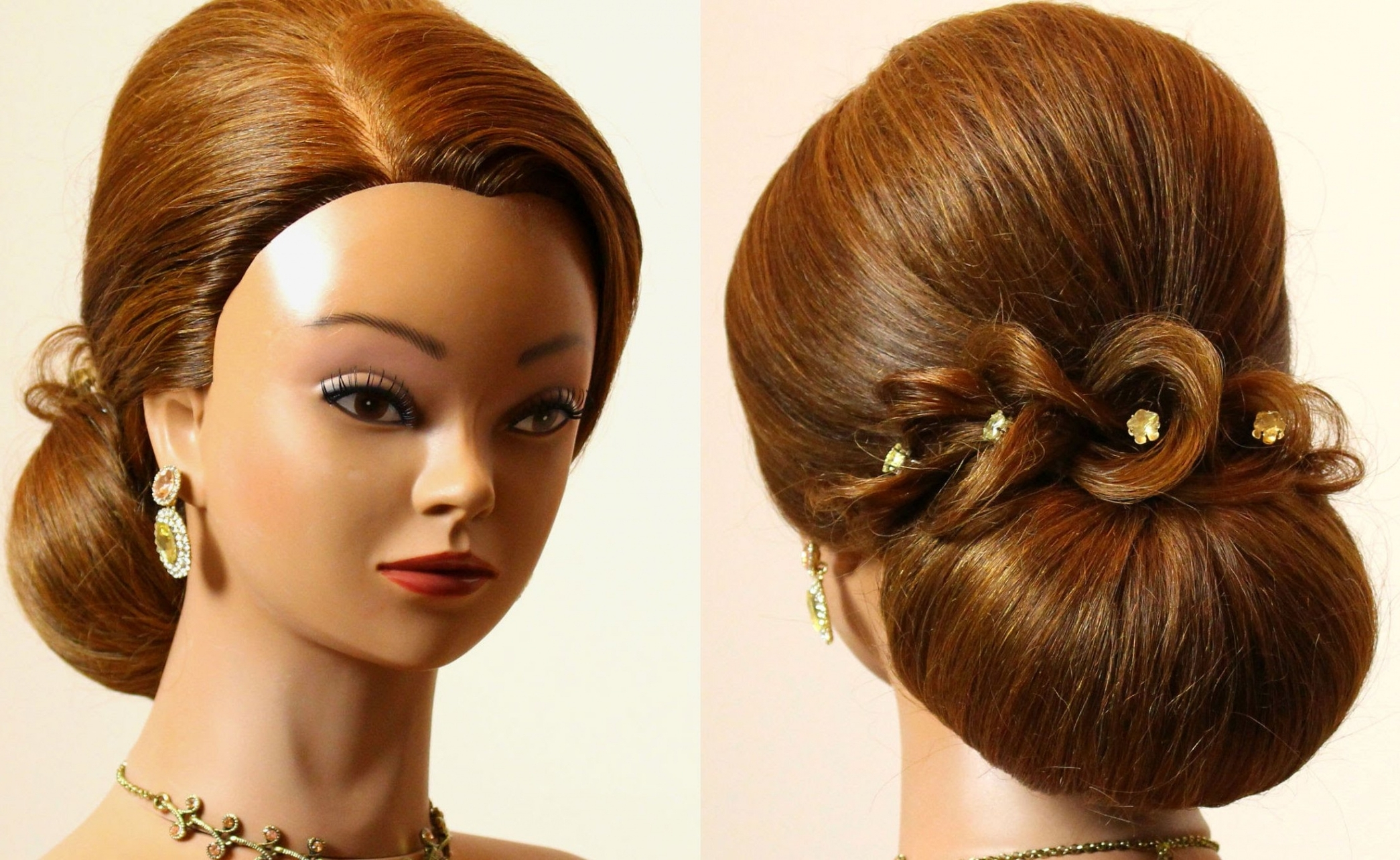 Hairstyle For Long Hair Tutorial. Prom Bridal Updo (View 13 of 15)