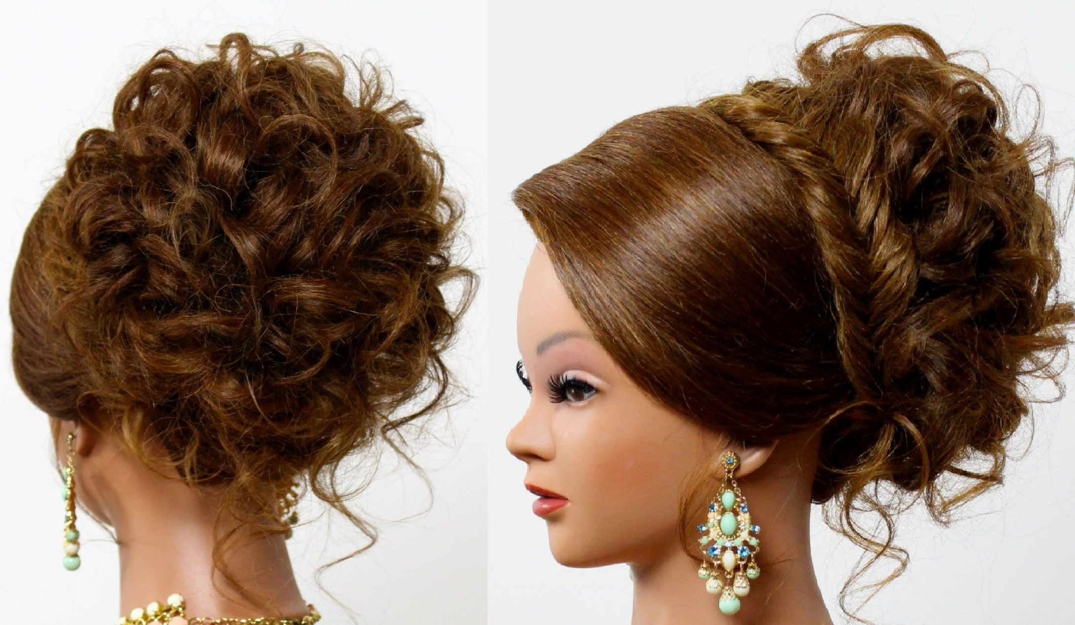 Hairstyle For Long Medium Hair. Bridal Prom Updo (View 12 of 15)