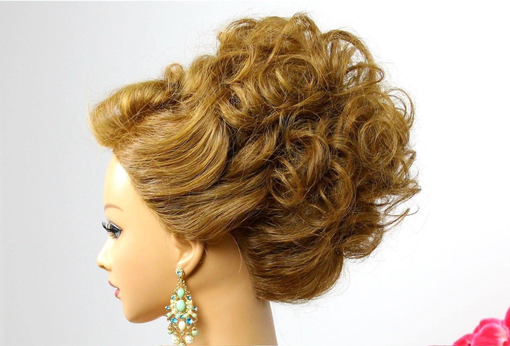 Hairstyle For Medium Hair. Wedding Prom Updo (View 5 of 15)