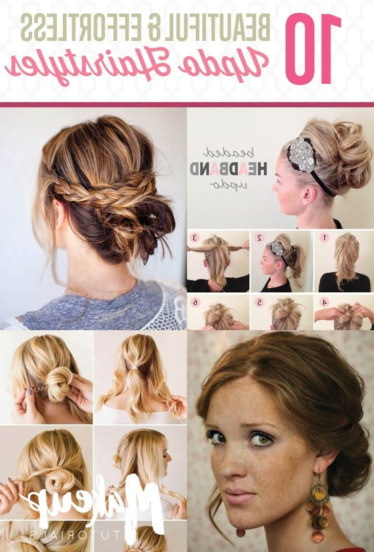 Hairstyle Tutorials For Your Next Imposing Diy Updos Medium Hair Within Quick Hair Updo Hairstyles (View 9 of 15)