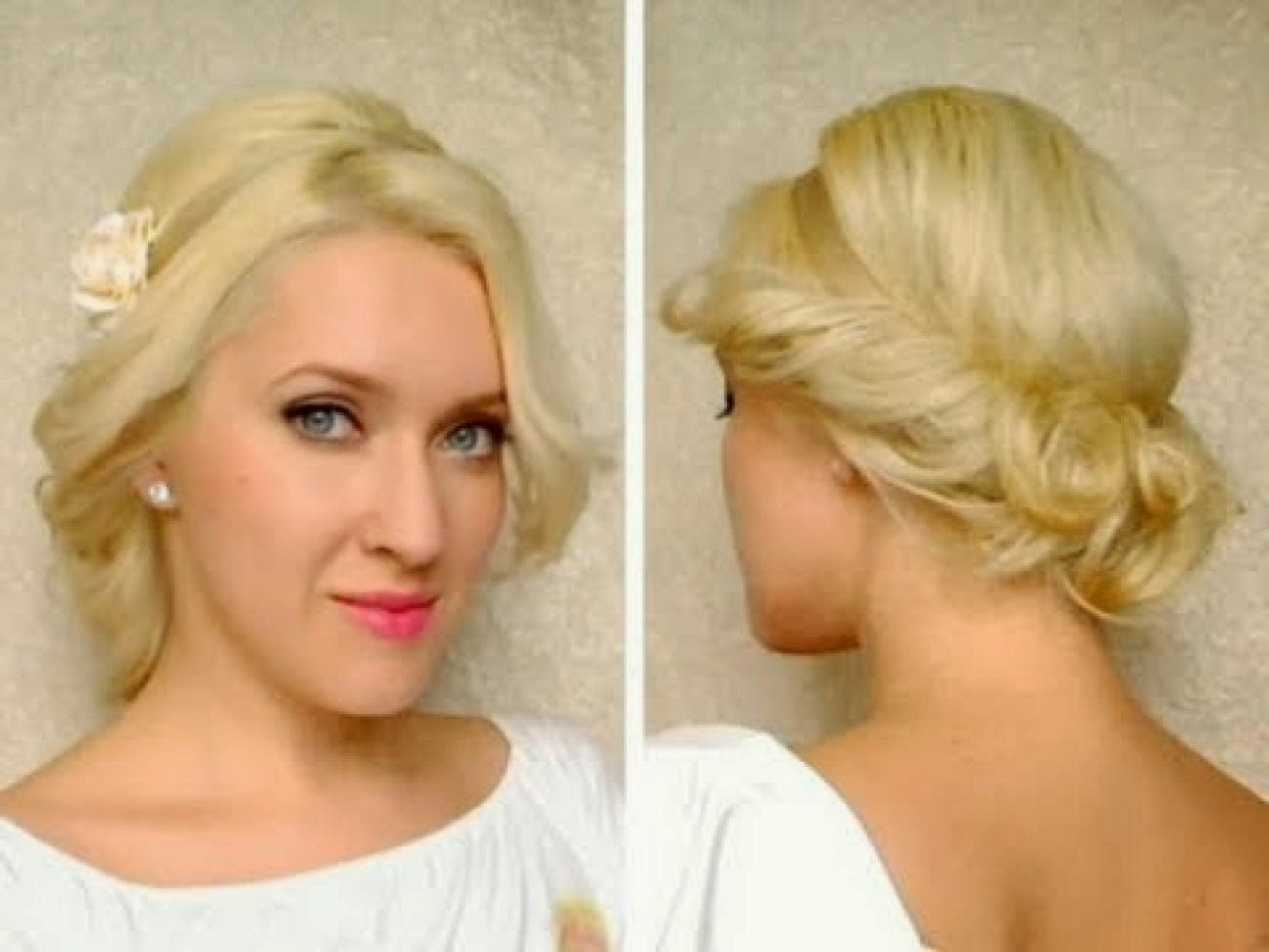 Photo Gallery of Wedding Hairstyles For Short Hair Updos (Viewing 5 ...