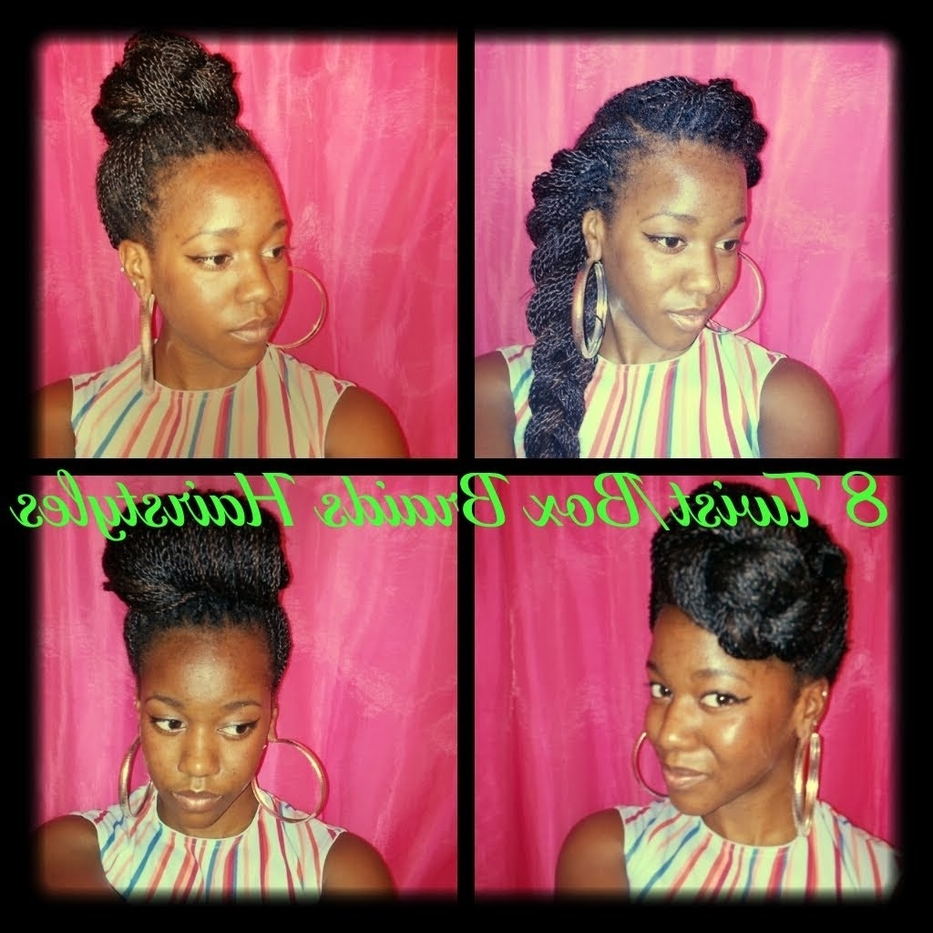 Hairstyles For Senegalese Twists/box Braids (pt (View 10 of 15)