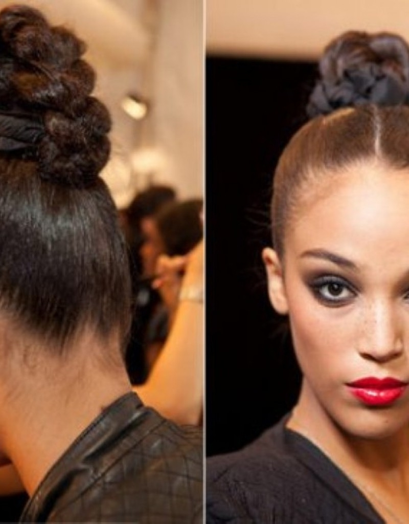 Hairstyles For Women Braided Bun Hairstyles Black Women Hollywood With Regard To Black Braided Bun Updo Hairstyles (View 9 of 15)