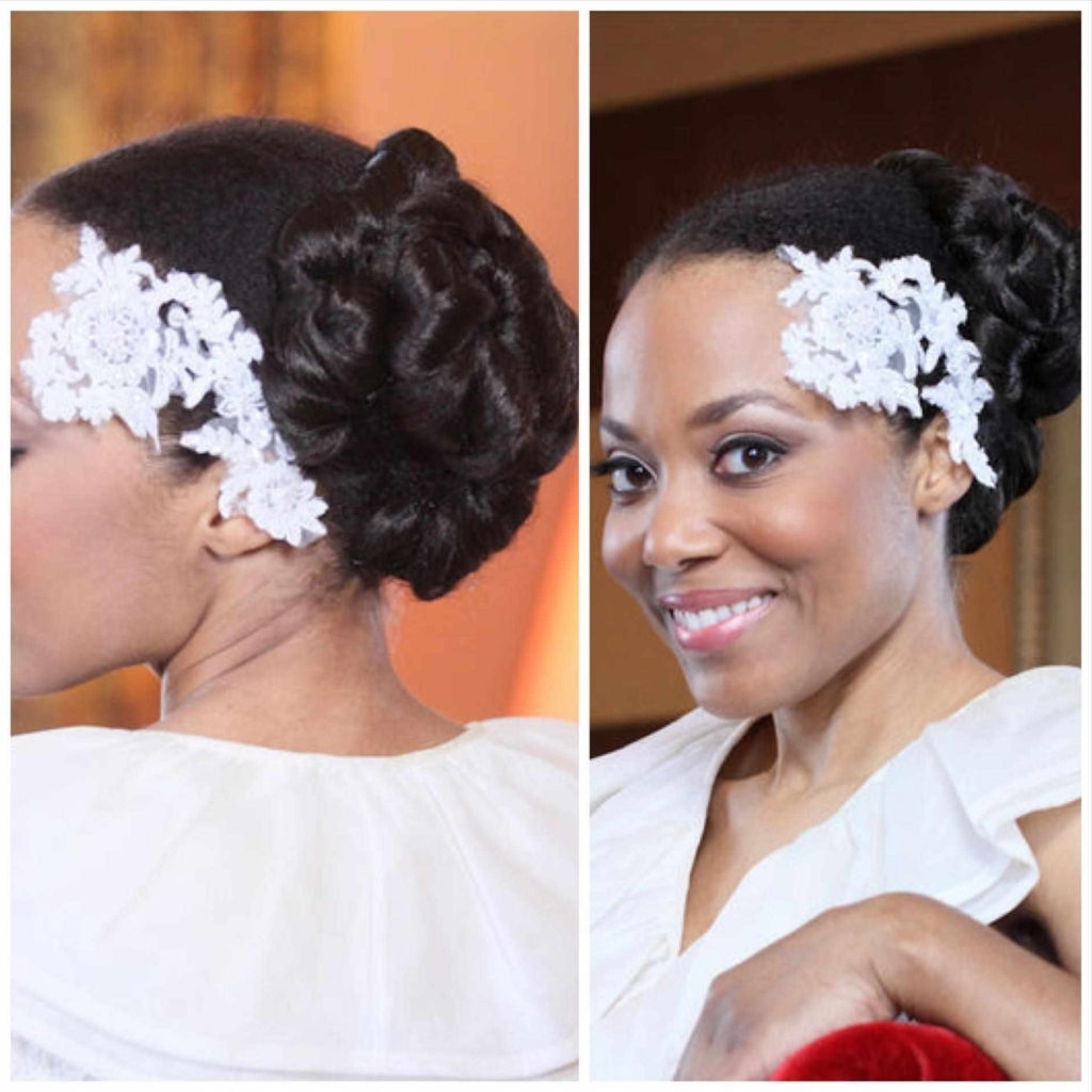 Hairstyles ~ Shoot Black Bride Updo Romantic Hairstyle For Medium Intended For Updo Hairstyles For Black Bridesmaids (View 9 of 15)
