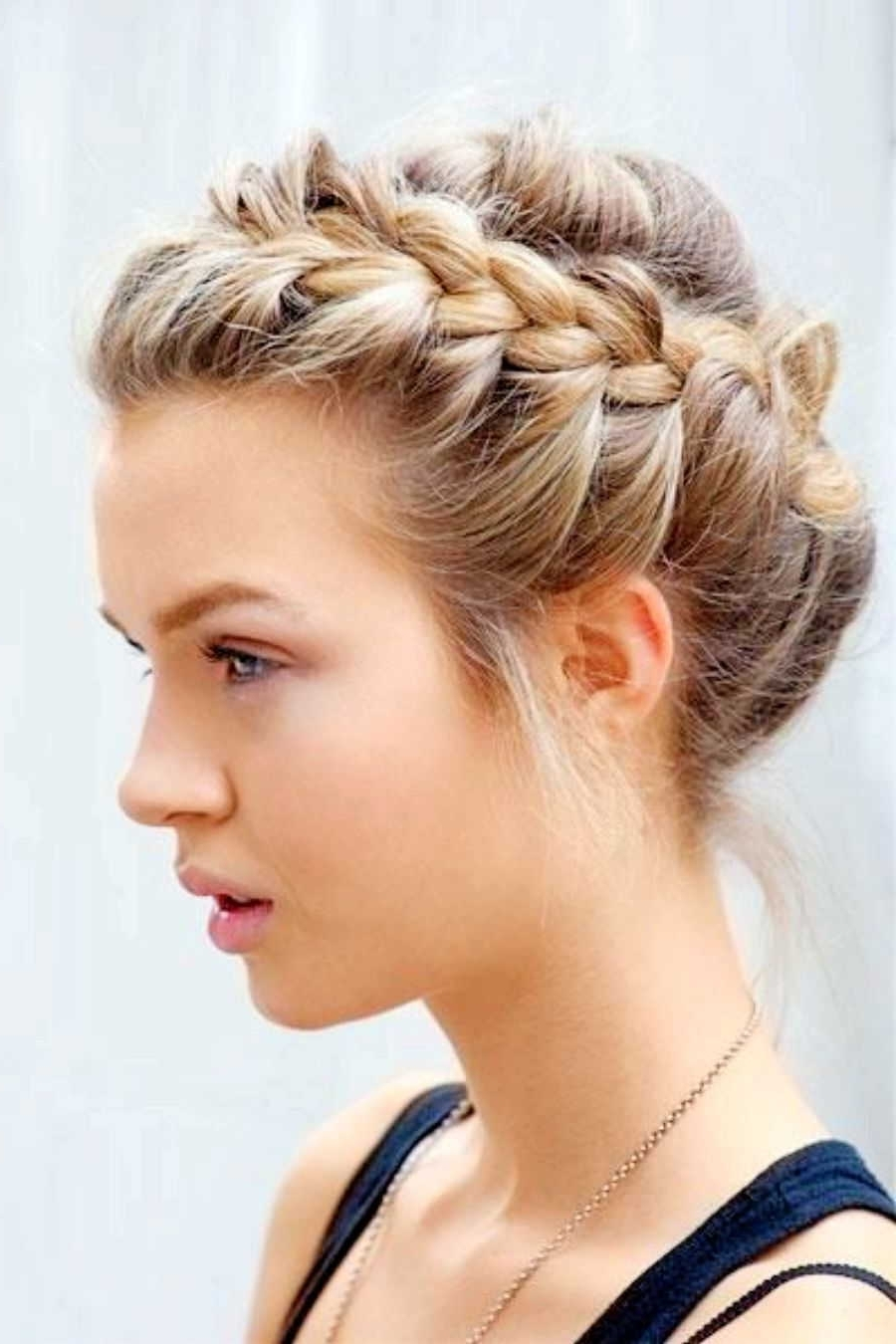 Hairstyles Updo Braid Updo For Short Hair Braids For Short Hair Intended For Updos For Fine Short Hair (View 8 of 15)