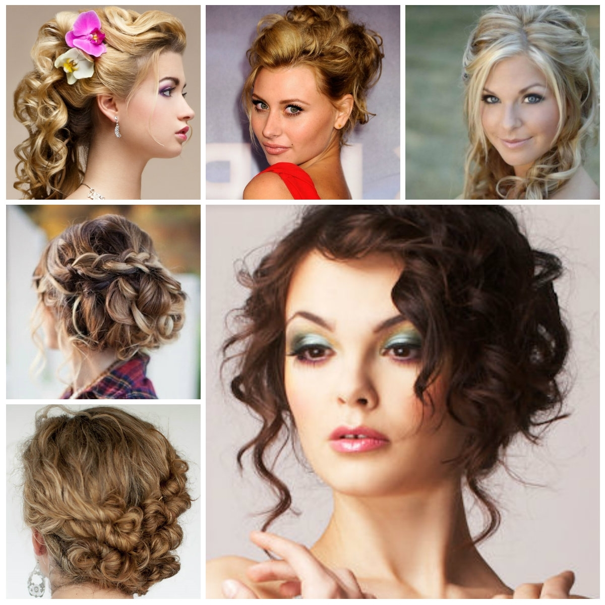 Hairstyles Updo Pretty Curly Updo Hairstyles For Haircuts Hairstyles In Curly Updo Hairstyles (View 6 of 15)