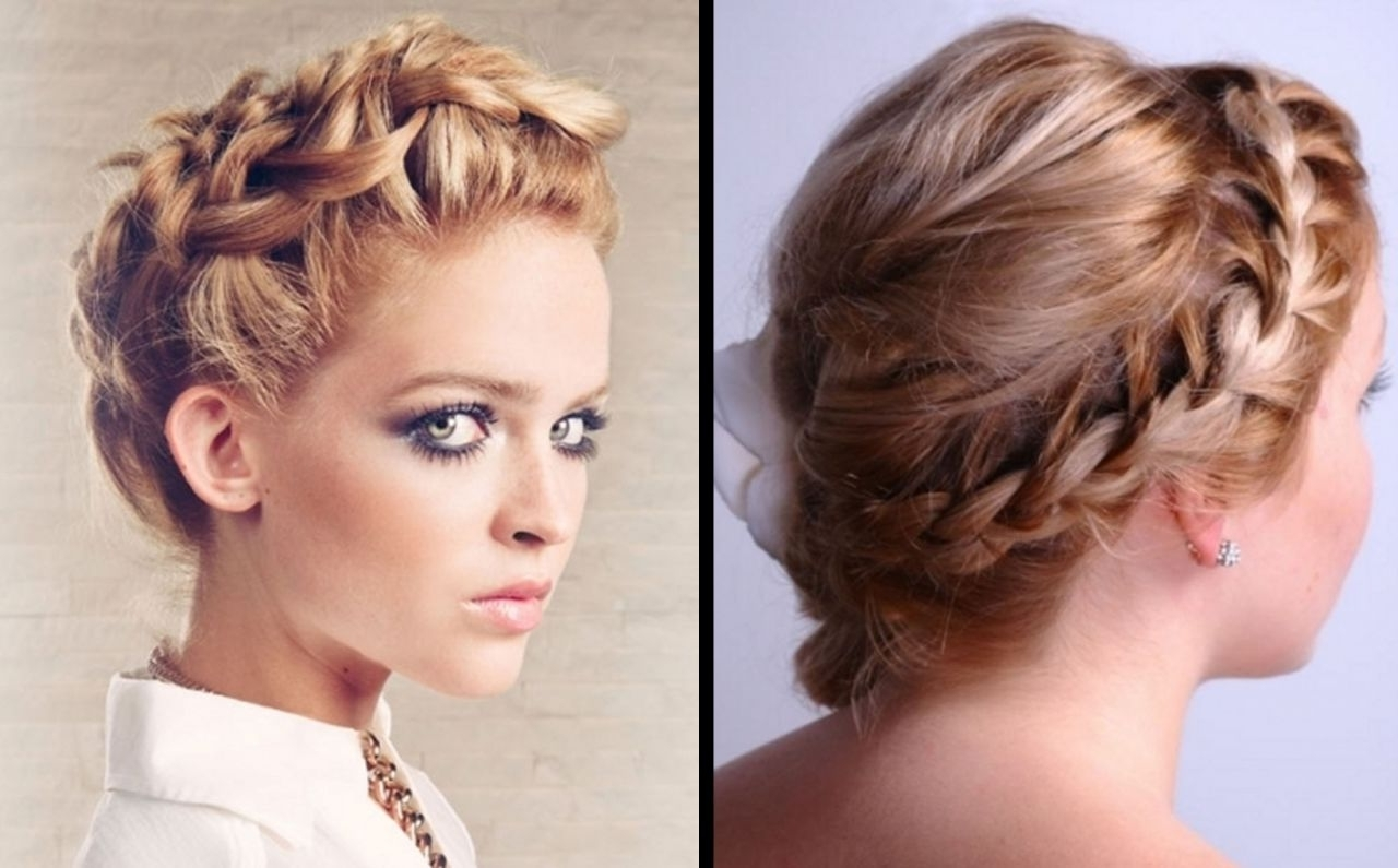 Hairstyles Updos With Braids For Prom With Regard To Bridesmaid Hairstyles Updos For Short Hair (View 9 of 15)