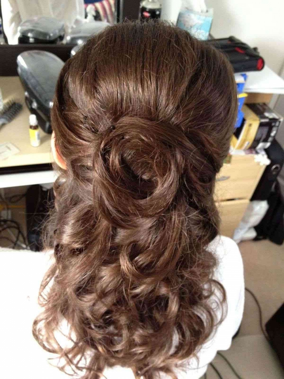 Half Up Half Down Bun Homecoming Hairstyles Elegant Half Updo With Elegant Half Updo Hairstyles (View 11 of 15)