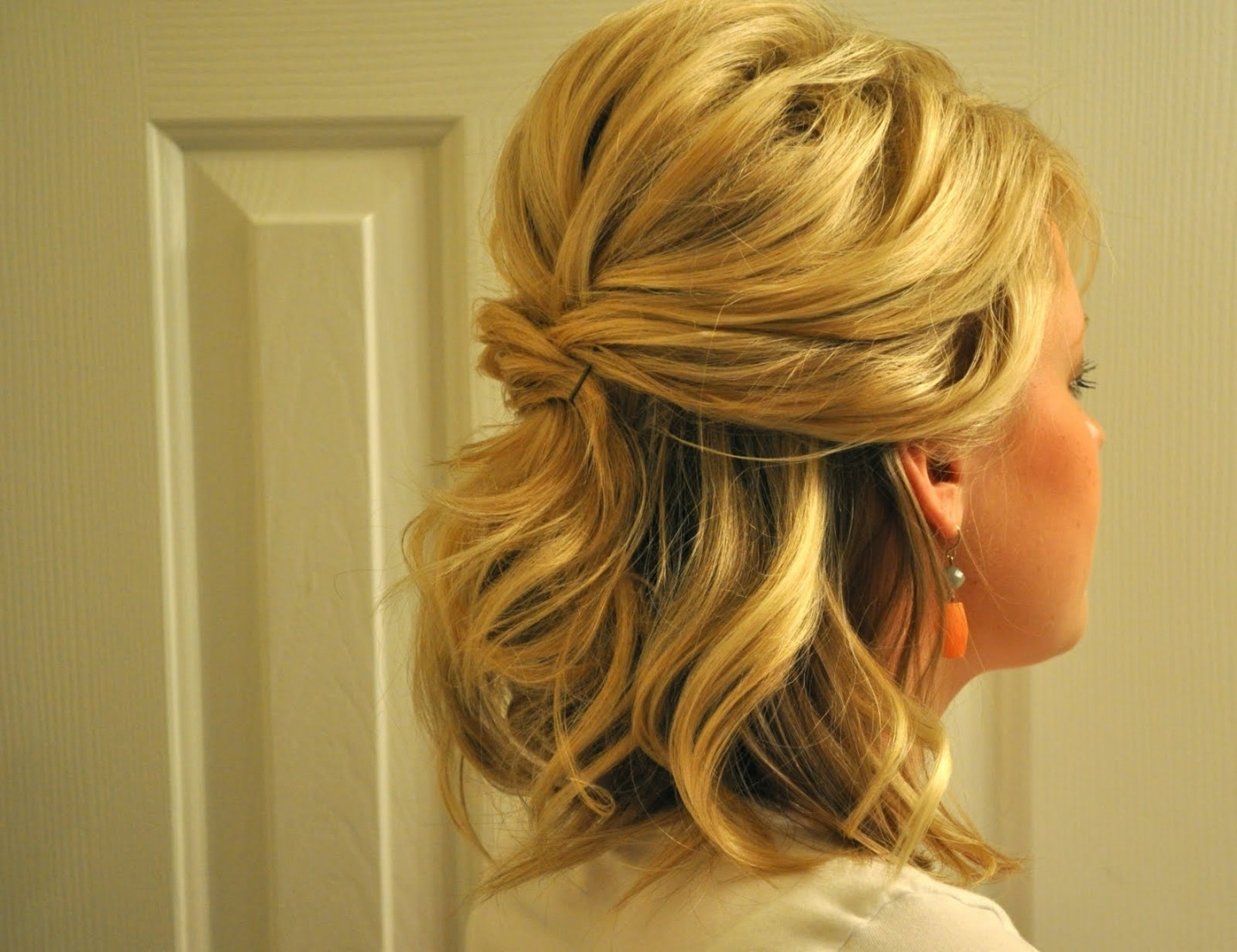 Half Updo Hairstyles For Mother