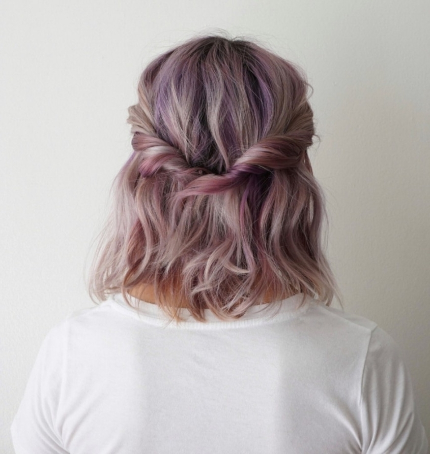 Half Updo Hairstyles For Medium Length Hair 5 Ways To Wear | Latest With Regard To Half Updos For Shoulder Length Hair (View 12 of 15)