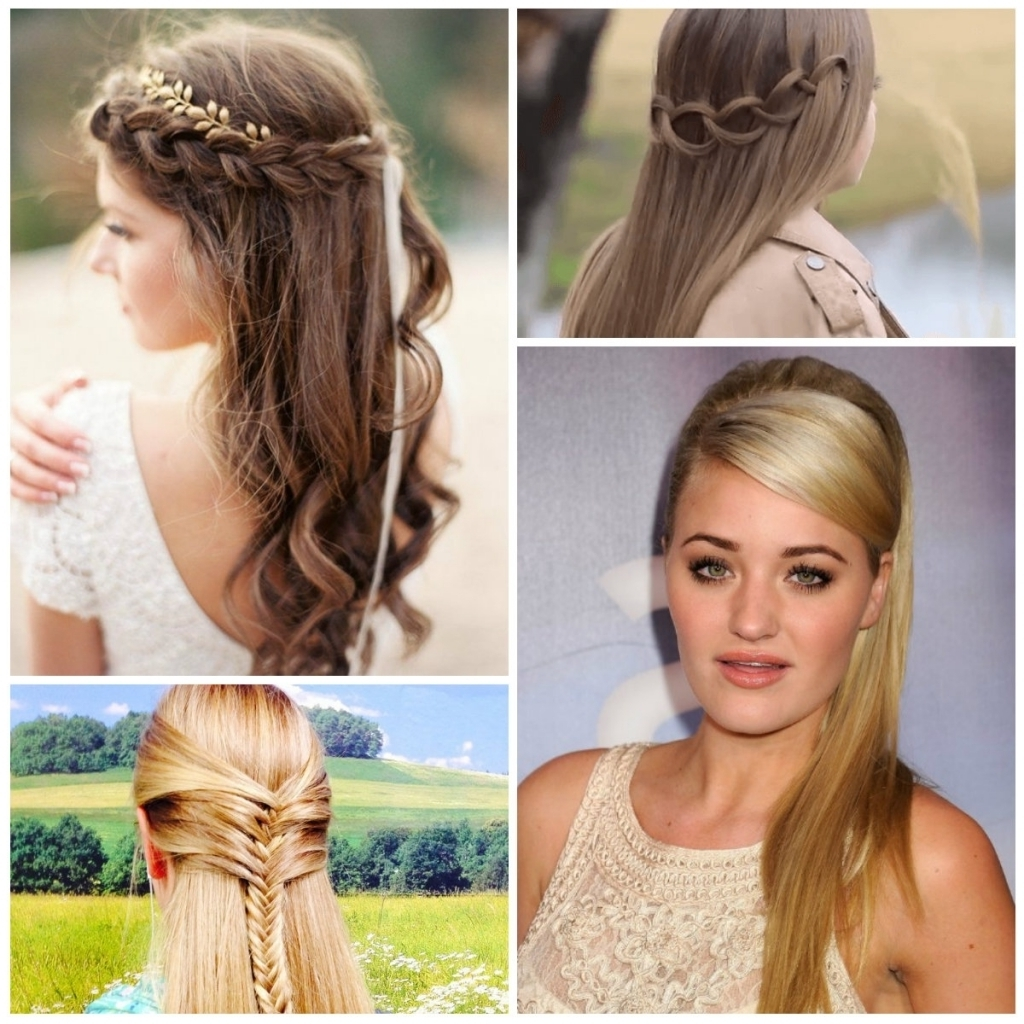 Half Updo Hairstyles Half Updo Hairstyle Ideas For Long Hair Regarding Half Updo Hairstyles (View 9 of 15)