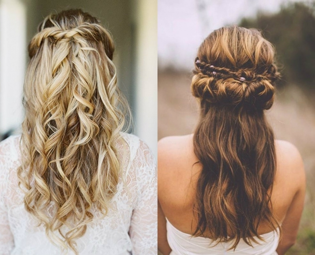 Half Updo Hairstyles Wedding Classy Choice Of Half Up And Half Down Within Wedding Half Updo Hairstyles (View 9 of 15)