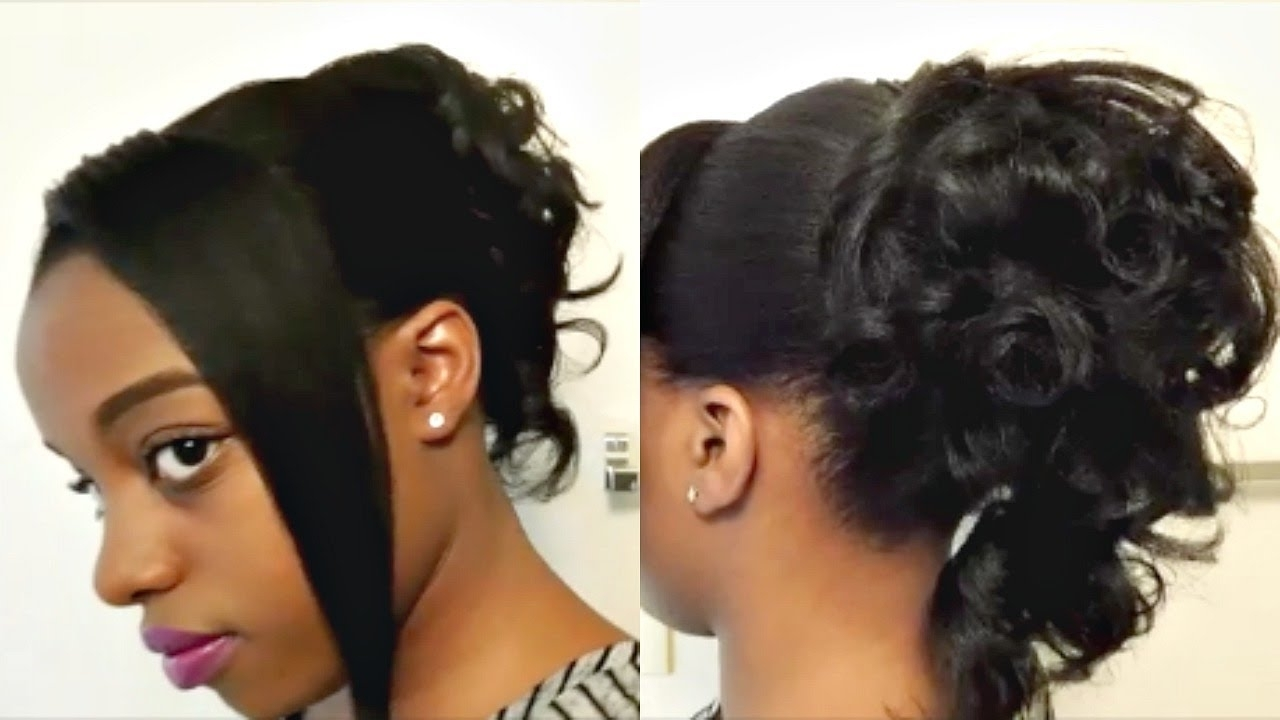 Heatless Curly Ponytail Updo Hairstyle Tutorial (Cr) – Youtube Within Ponytail Updo Hairstyles (View 8 of 15)