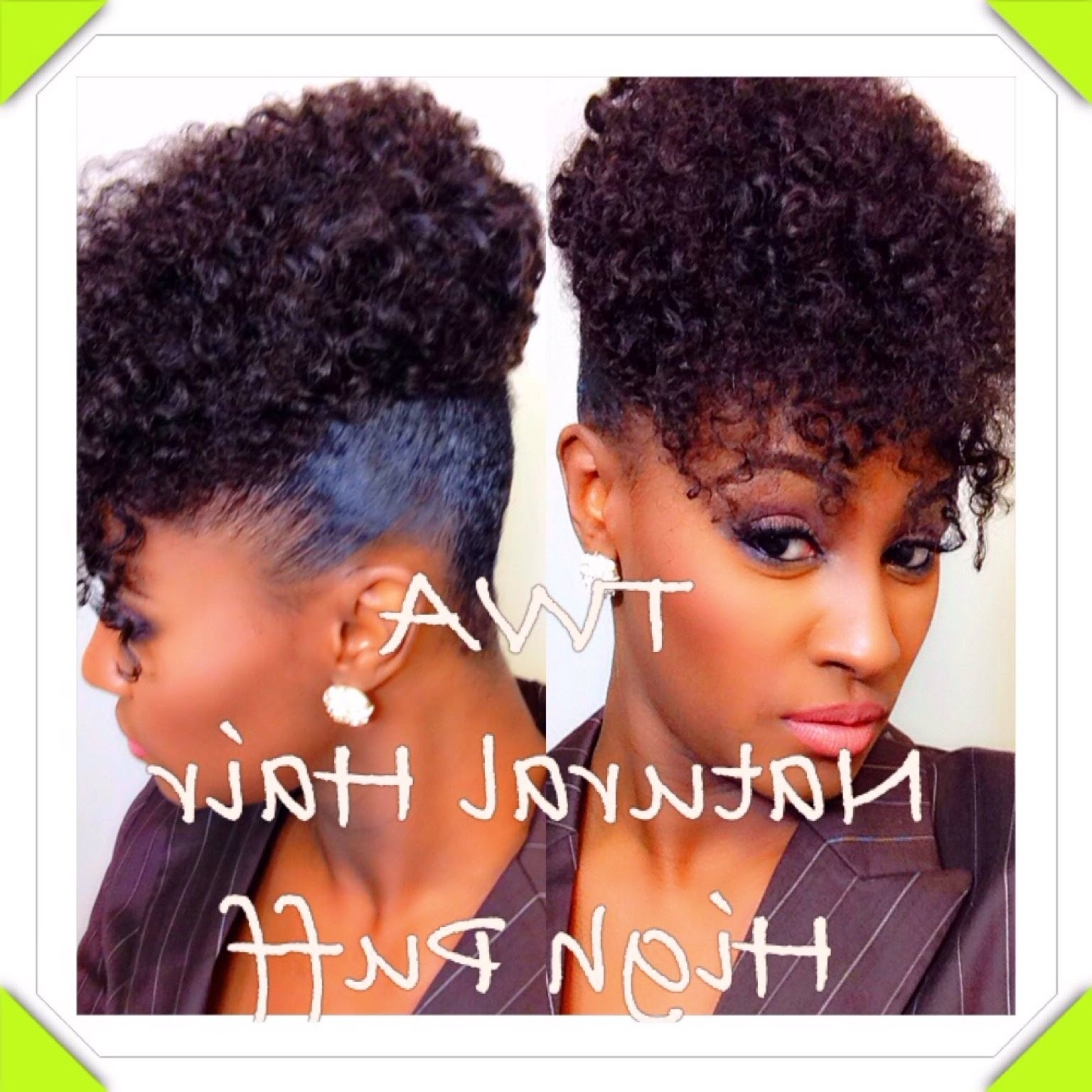 Highly Requested: Twa Natural Hair High Puff | Shlinda1 – Youtube Regarding Updo Hairstyles For Natural Hair With Weave (View 7 of 15)