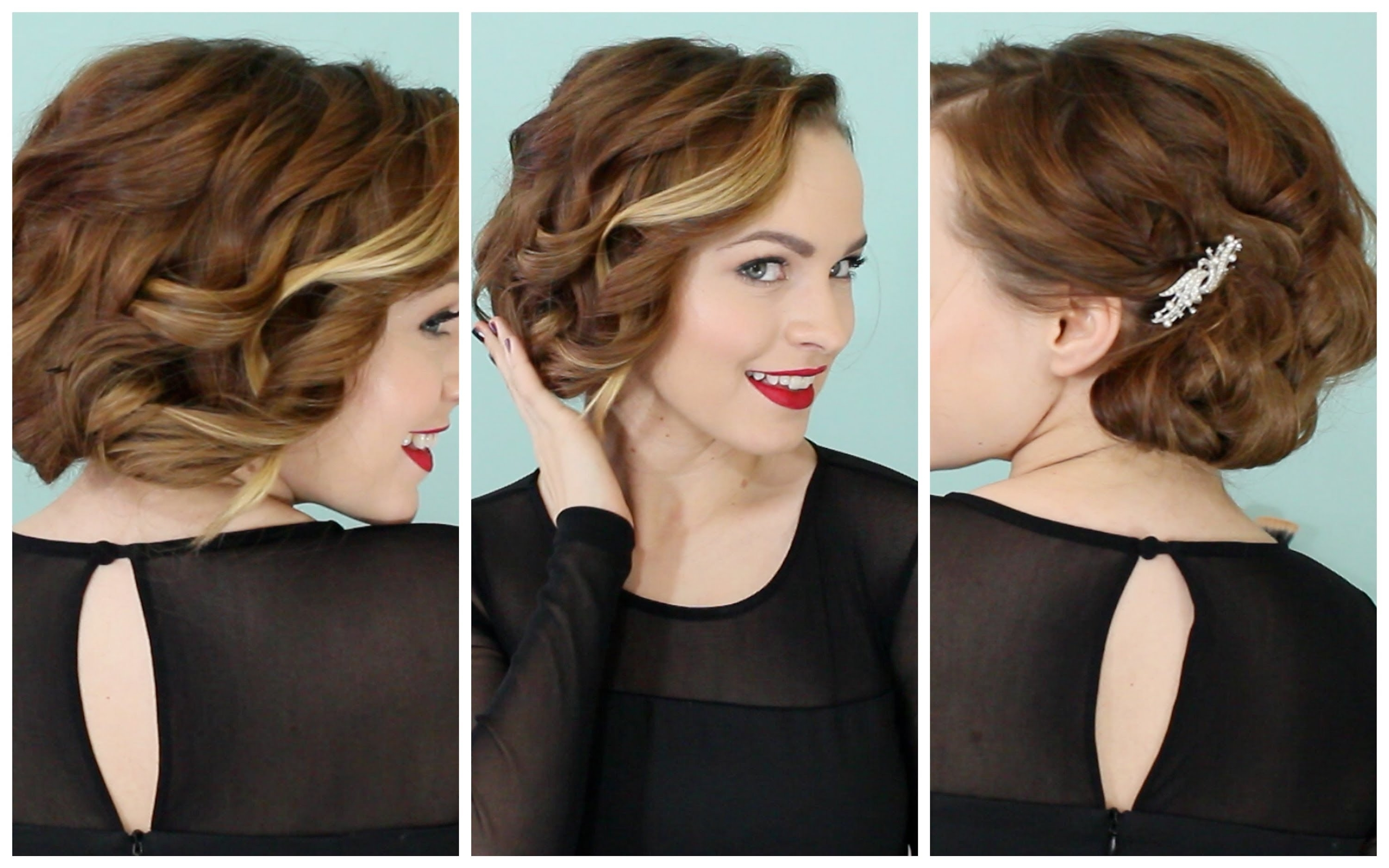 Holiday Faux Bob – No Teasing Required :d! – Youtube Throughout Bob Updo Hairstyles (View 8 of 15)
