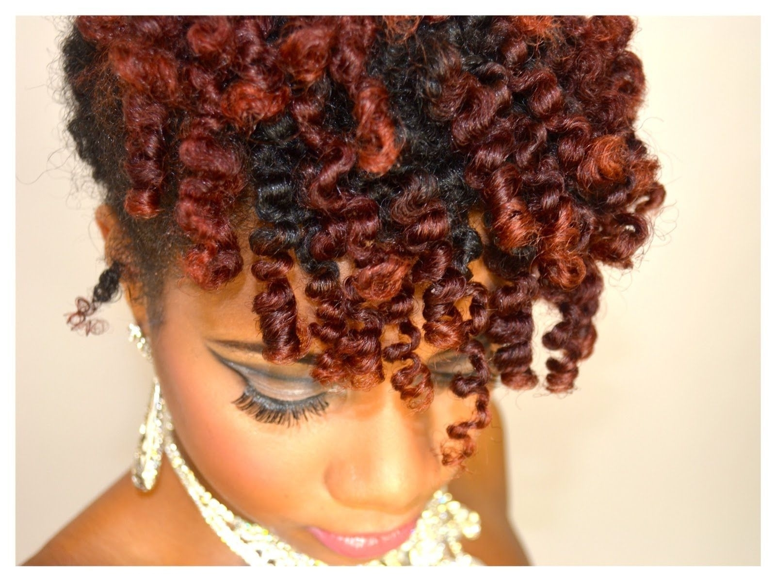Homecoming Hair Style Bantu Knot Out Updo Hair Tutorial (+Playlist Within Knot Twist Updo Hairstyles (View 11 of 15)