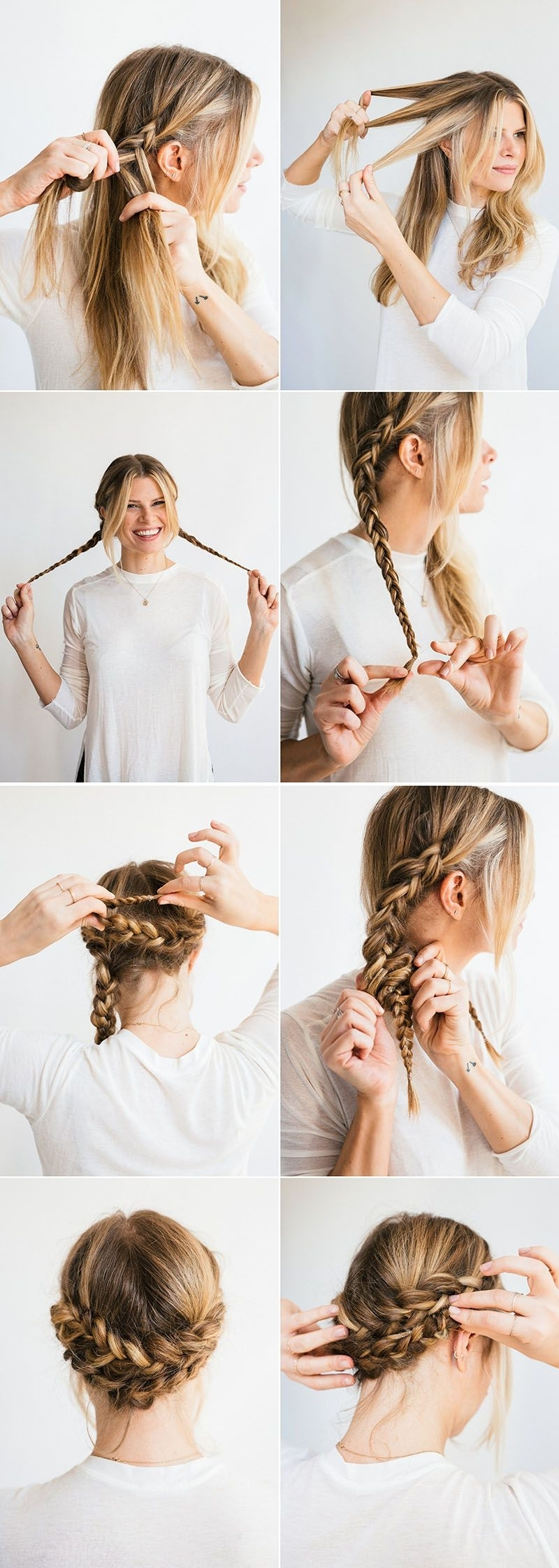 Horseshoe Braid | Simple Braids, Updo And Romantic Pertaining To Easy Braided Updo Hairstyles (View 3 of 15)