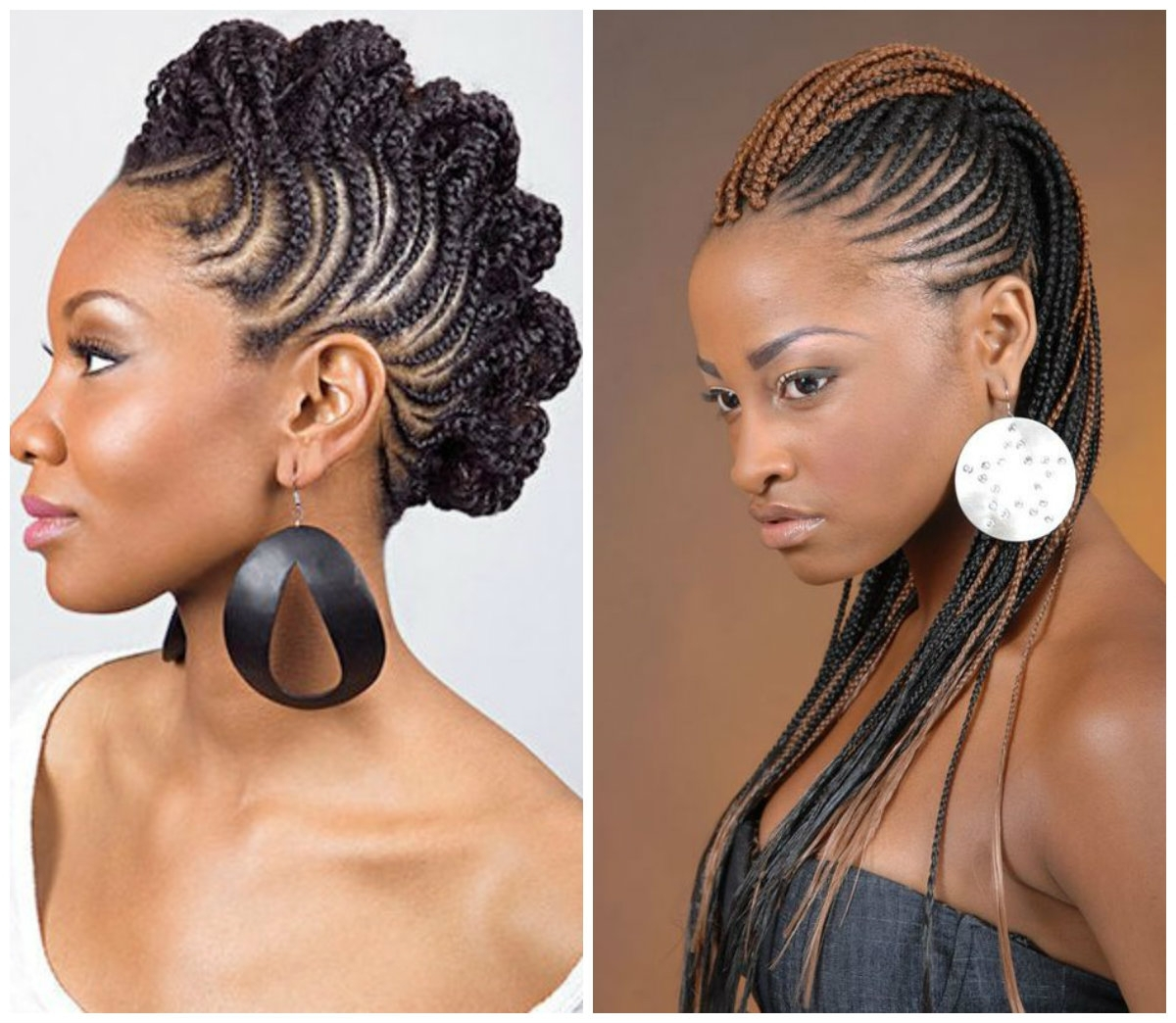 Hot African American Stone Age Inspired Braided Hairstyle Ideas Inside Scalp Braids Updo Hairstyles (View 10 of 15)