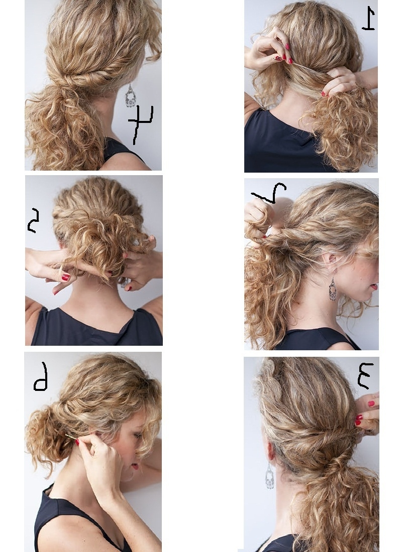 How I Can Style My Curly Hair With Easy Steps At Home? – Hairzstyle For Easy Updos For Long Curly Hair (View 5 of 15)