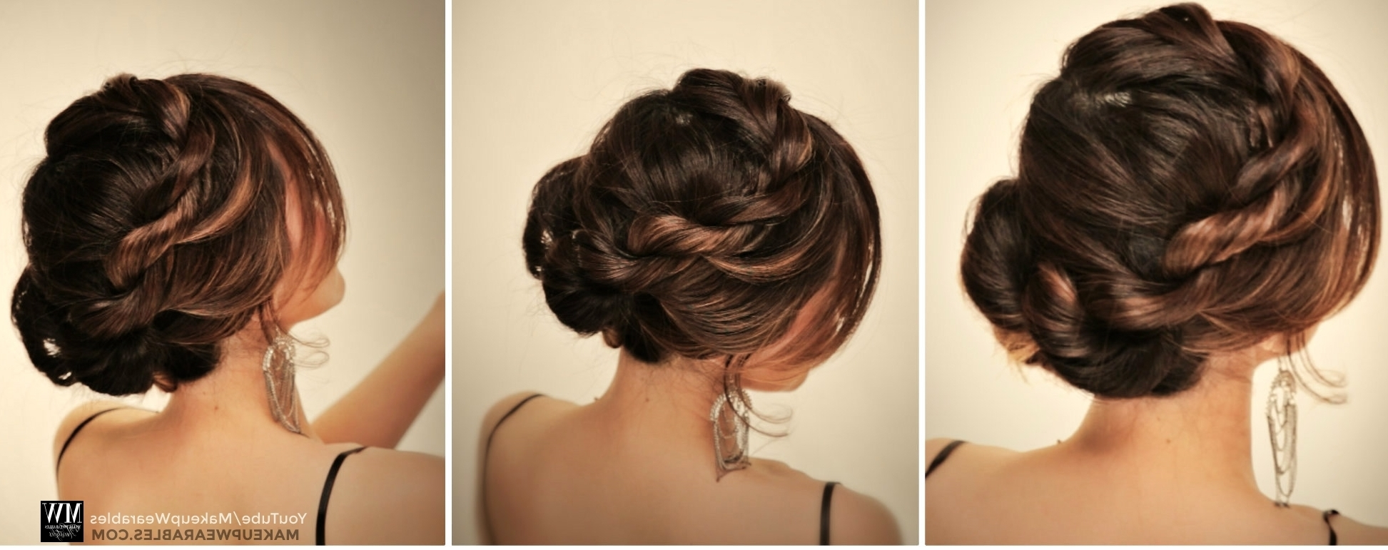 How To: 5 Amazingly Cute + Easy Hairstyles With A Simple Twist In Braid Updo Hairstyles For Long Hair (View 11 of 15)