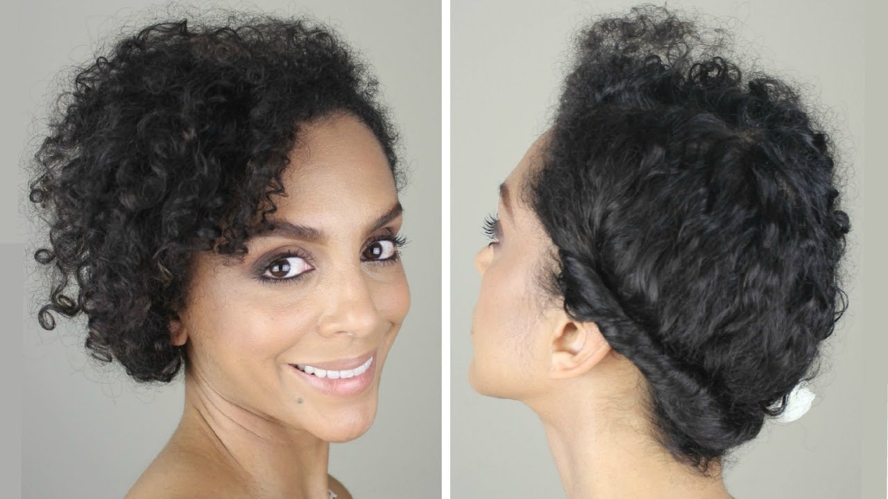 How To: Casual Updo On Fine, Curly Hair | Discocurlstv – Youtube Regarding Natural Curly Hair Updos (View 4 of 15)
