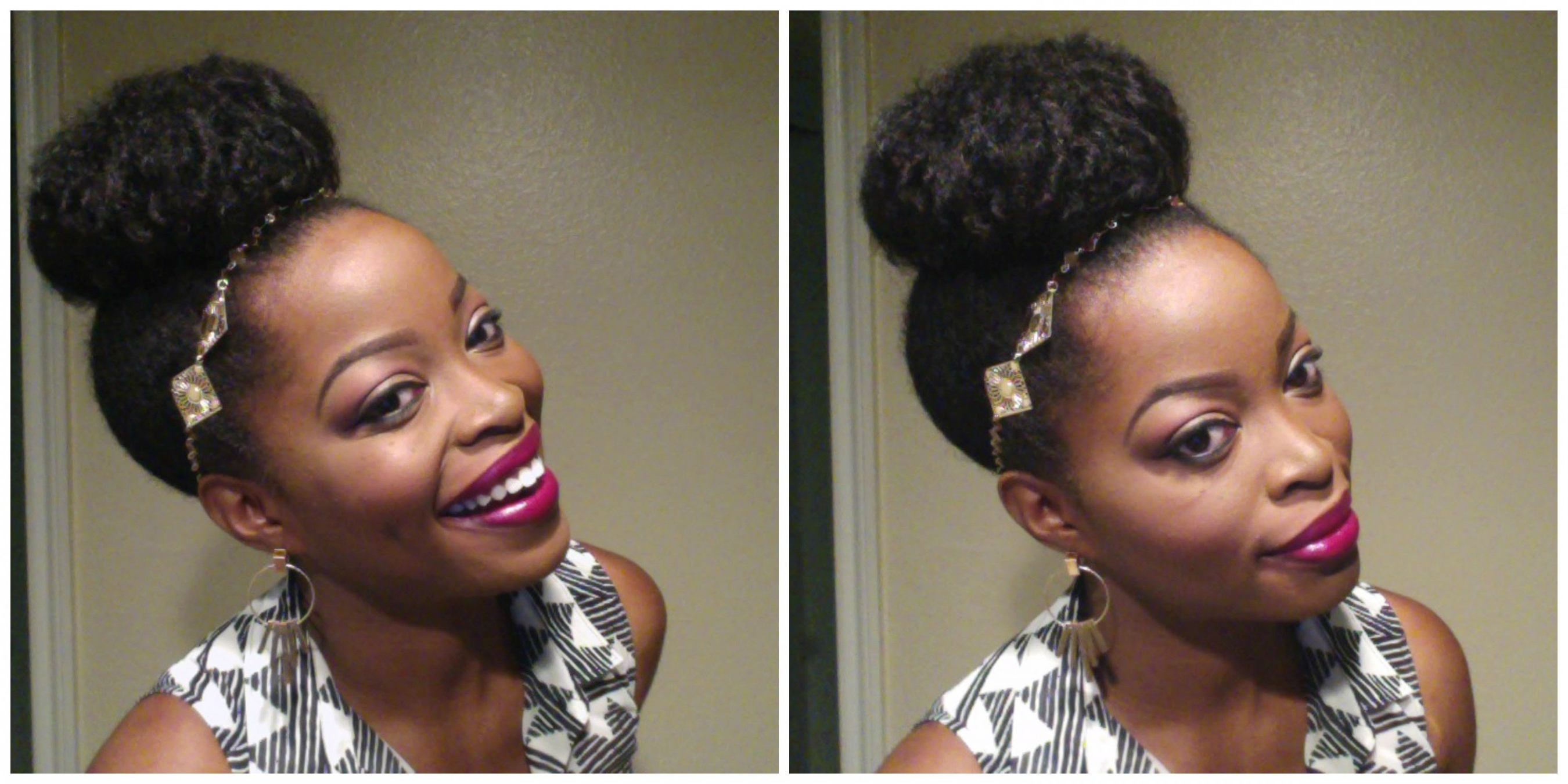 15 Best Ideas Of Updo Hairstyles For Medium Length Natural Hair
