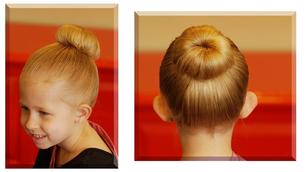 How To Do A Sock Bun // Youtube Hair Tutorial – Youtube With Easy Updo Hairstyles For Kids (View 6 of 15)