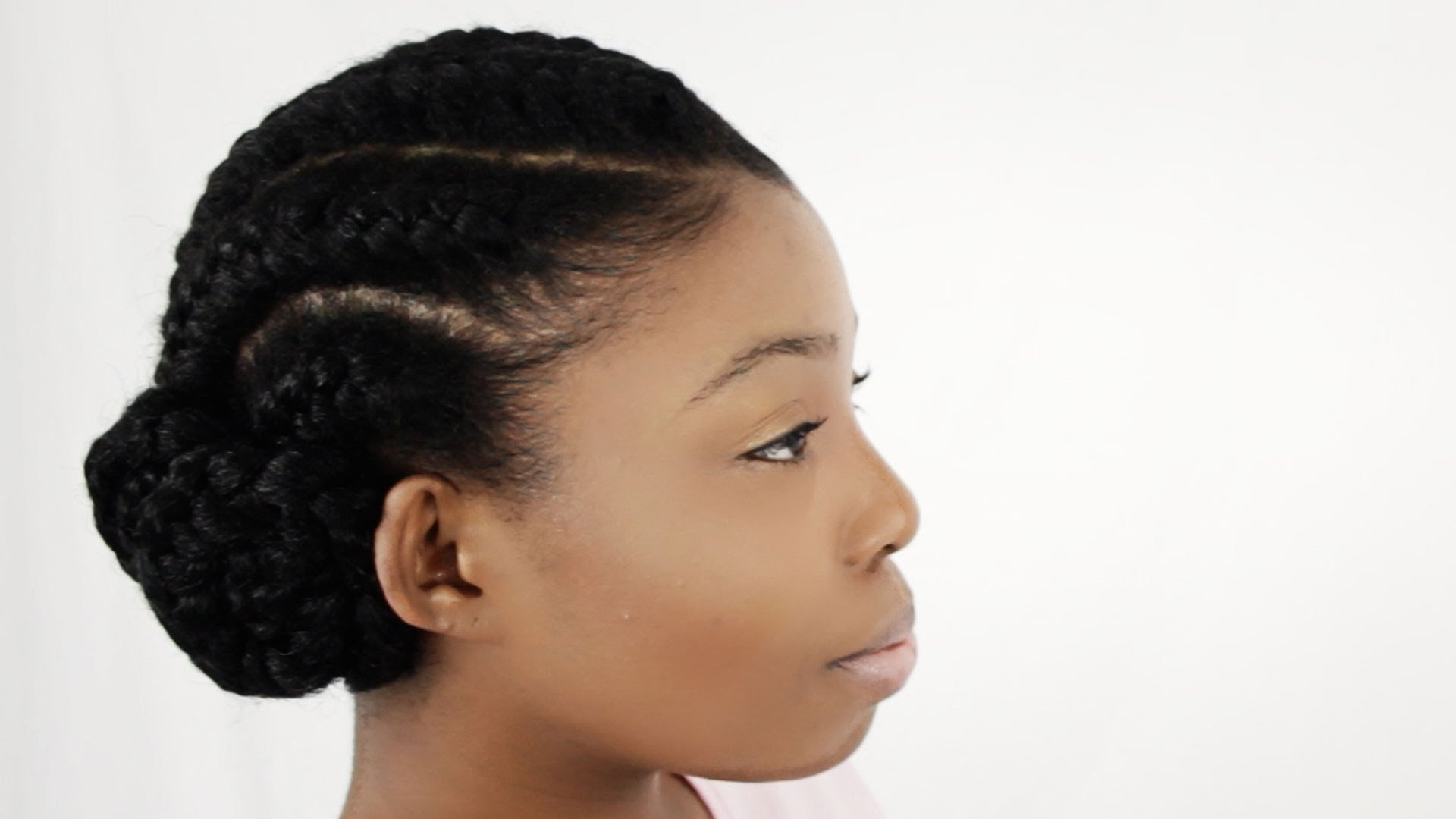 How To Do Goddess Braids With Weave Extensions On Natural Hair With Braided Updo Hairstyles With Extensions (View 12 of 15)