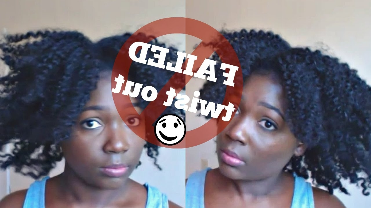 How To Fix A Failed Twist Out [Easy Updo Hairstyle] – Youtube Within Updo Twist Out Hairstyles (View 5 of 15)