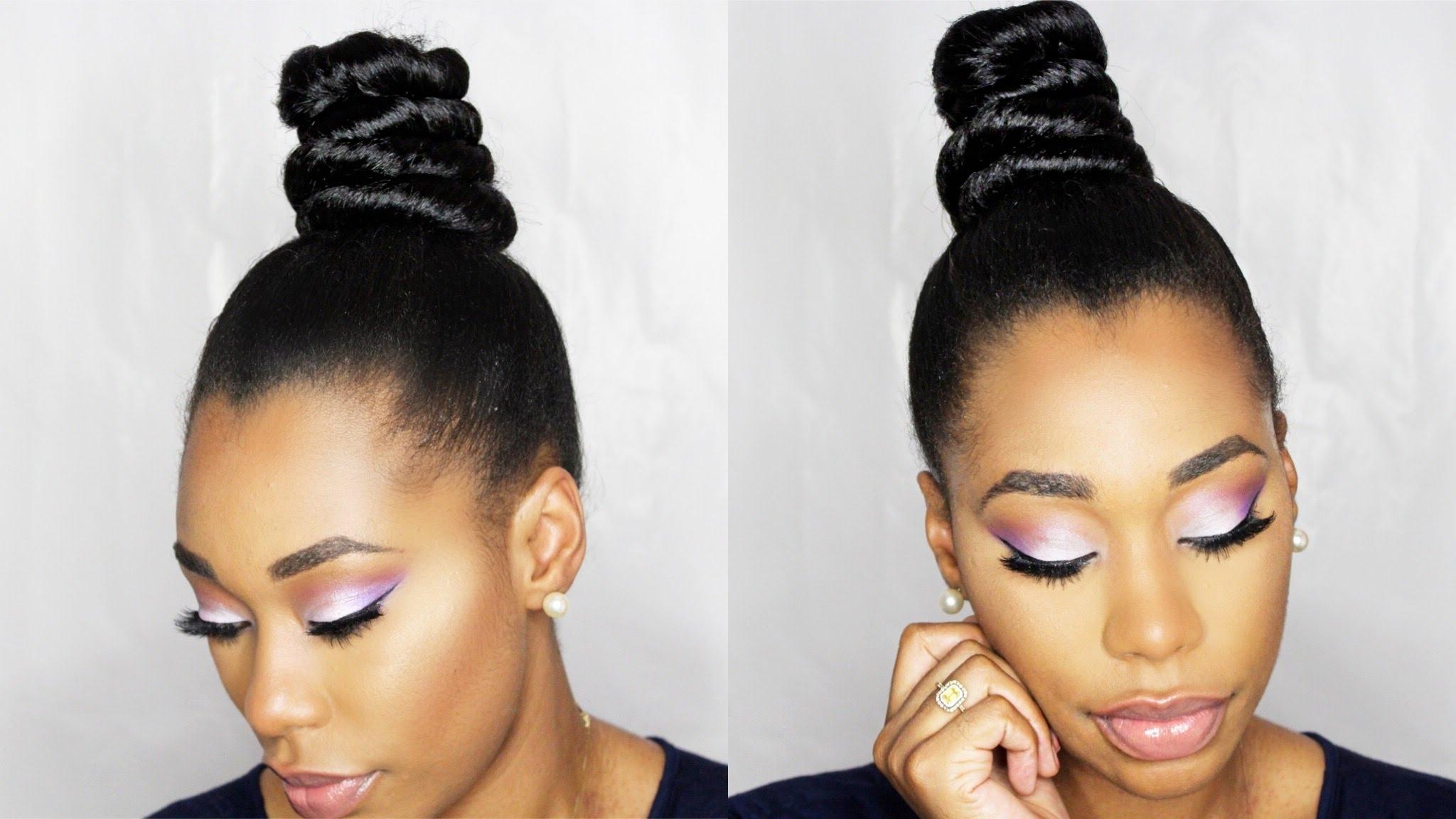 How To: Ninja Top Knot Bun With Braiding Hair Stepstep For Updo Hairstyles With Braiding Hair (View 14 of 15)