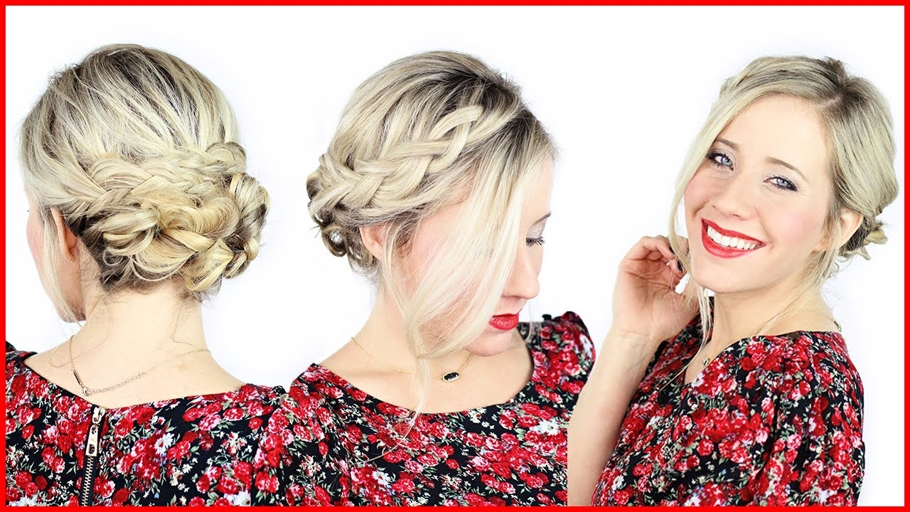 Photo Gallery Of Easy Braided Updo Hairstyles For Long Hair Viewing