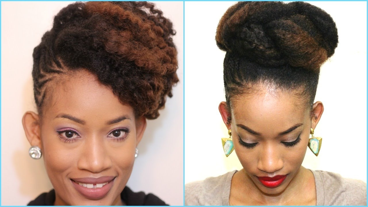Photo Gallery Of Updo Twist Out Hairstyles Viewing 6 Of 15 Photos