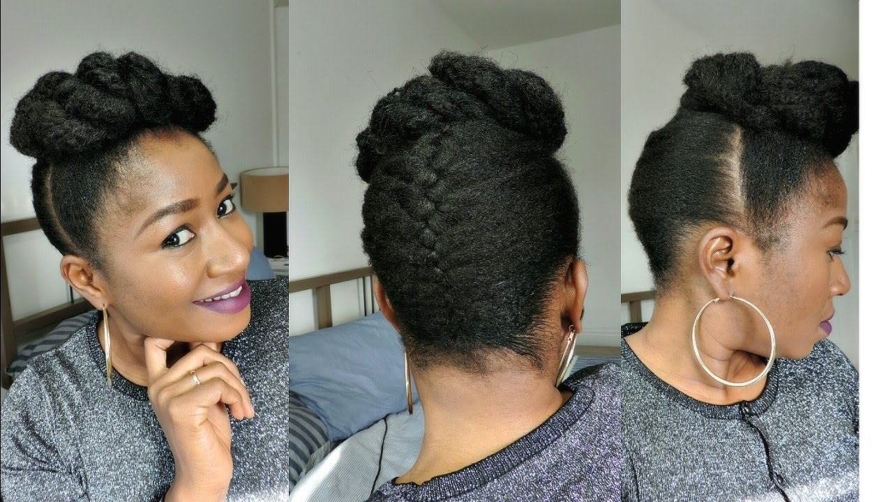 Photo Gallery Of Braided Updo Hairstyles For Natural Hair Viewing 2